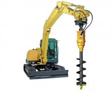 <b>螺旋钻机如何搭配钻杆在组装挖掘机上使用</b>